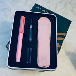Pink Starbucks fountain pen